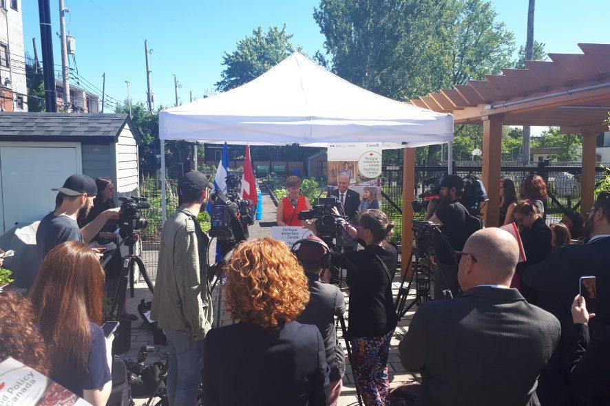 Annonce politique alimentaire pour le canada